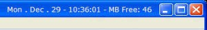 TitleBarClock Lite 3.6.7 screenshot