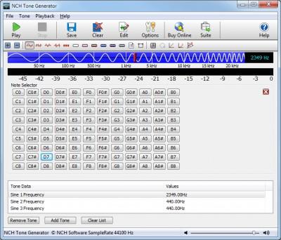 Tone Generator 3.26 screenshot