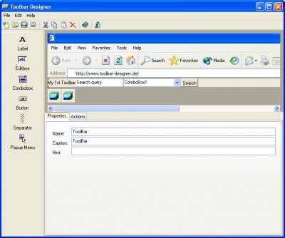 Toolbar Designer 2.2.3 screenshot