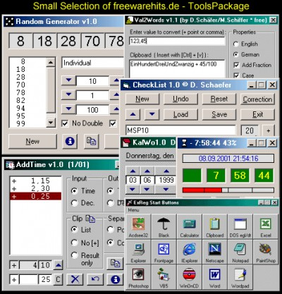 ToolsPackage 8.9 screenshot