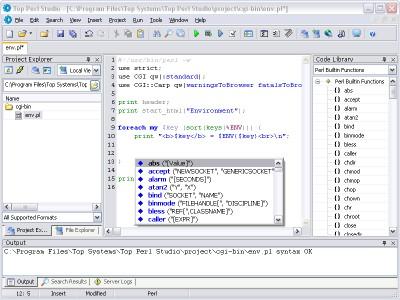 Top Perl Studio 1.27 screenshot