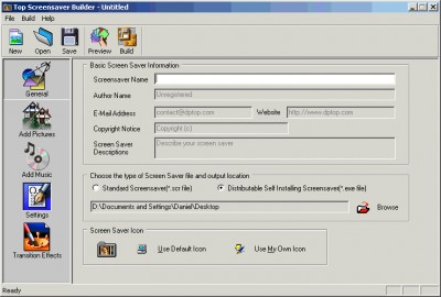 Top Screen Saver Builder 2.1 screenshot