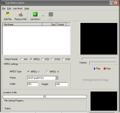 Top Video Joiner 1.01 screenshot