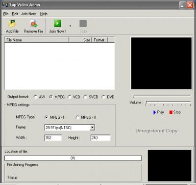 Top Video Joiner 1.01 screenshot