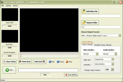 Top Video Splitter 2.0 screenshot