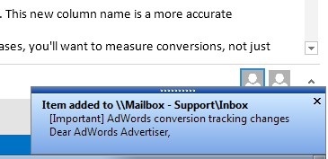Topalt Folder Notify for Outlook 3.12 screenshot
