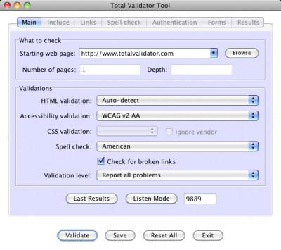 Total Validator Tool for macOS 11.6.0 screenshot