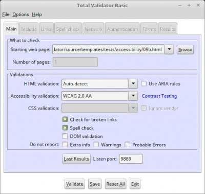 Total Validator Tool 12.0.0 screenshot