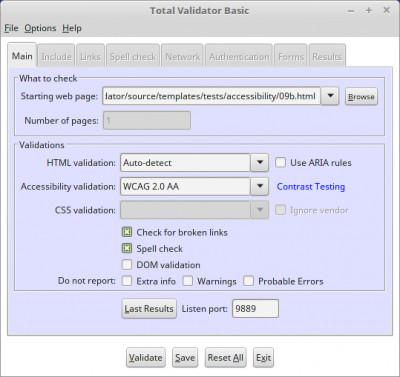 Total Validator Tool 11.7.0 screenshot