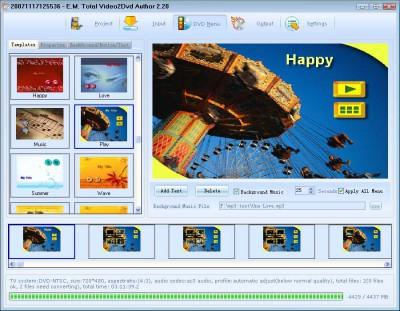 Total Video2Dvd 3.30 screenshot