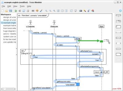 Trace Modeler for UML Sequence Diagrams 1.6 screenshot