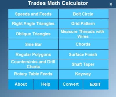Trades Math Calculator 2.0.1 screenshot