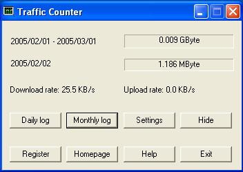 Traffic Counter 2.3.0.5 screenshot