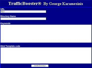 TrafficBooster Increase Web Site Traffic 1.0 screenshot