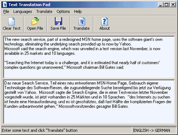 Translation Pad 2.15 screenshot