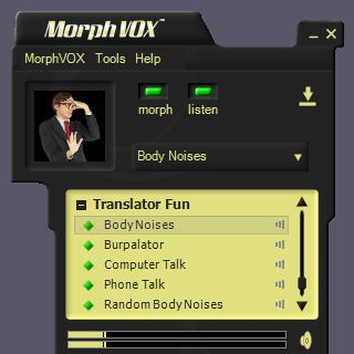 Translator Fun Voices - MorphVOX Add-on 1.5.1 screenshot