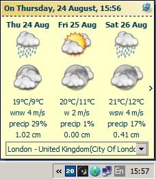 Tray Weather Forecast 1.5 screenshot