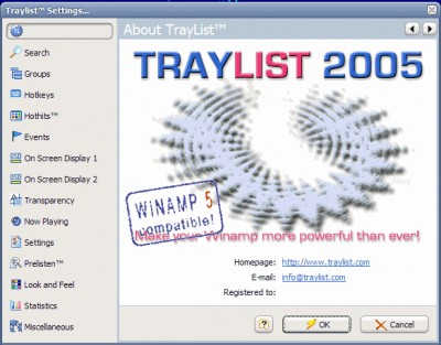 TrayList 2006.04 screenshot