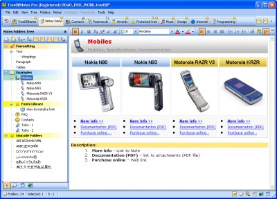 TreeDBNotes Pro 3.0 (050) screenshot