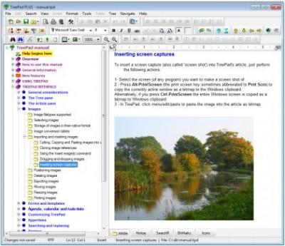 TreePad PLUS 8.1 screenshot
