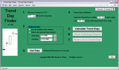 Trend Day Finder 1.04 screenshot