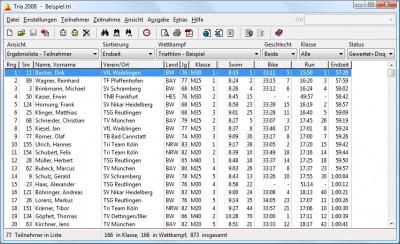 Tria 2008 - Triathlon Auswertung 1.4 screenshot