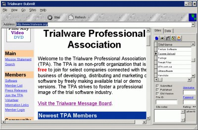 Trialware Submit 3.200 screenshot