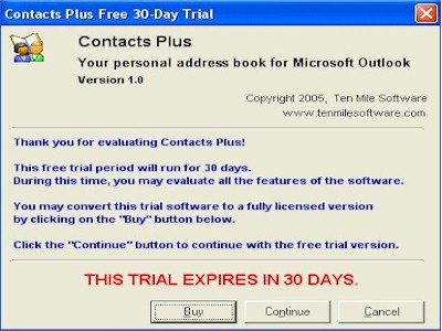 TrialwareDialog  ActiveX Control 1.1.2 screenshot