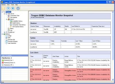 Trogon ODBC Database Monitor 1.6 screenshot