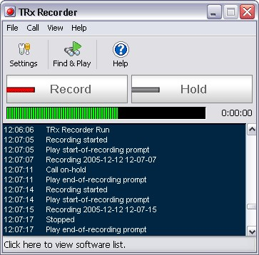 TRx Personal Phone Call Recorder for Mac 3.00 screenshot