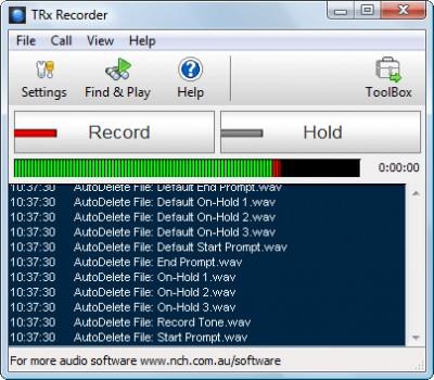 TRx Personal Phone Call Recorder 4.33 screenshot
