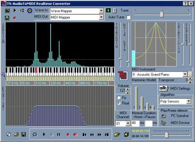 TS-AudioToMIDI 3.30 screenshot