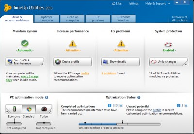 TuneUp Utilities™ 2013 13.0.2013. screenshot
