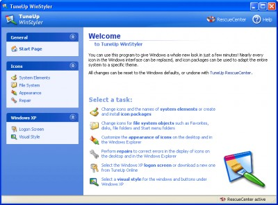 TuneUp WinStyler 4.1.2420 screenshot