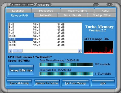Turbo Memory 2.5 screenshot