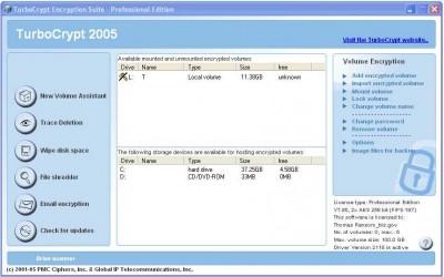TurboCrypt: Disk Encryption Software 6.5 screenshot