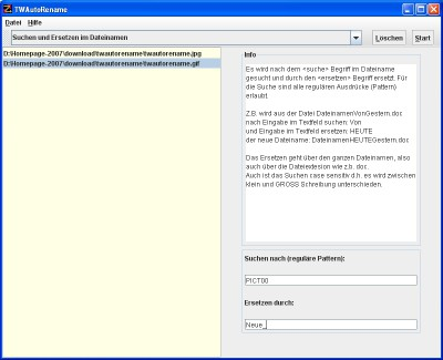 TWAutoRename 1.3.0 screenshot