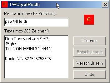 TWCryptPostIt 1.0 screenshot