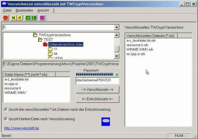 TWCryptVerzeichnis 1.9 screenshot