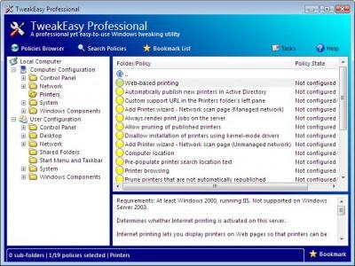 TweakEasy Professional 4.4 screenshot
