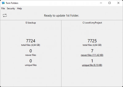 Twin Folders 5.0.3 screenshot