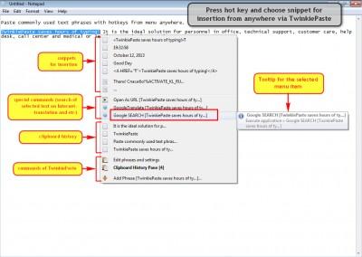 TwinkiePaste 3.10 Build 601 screenshot