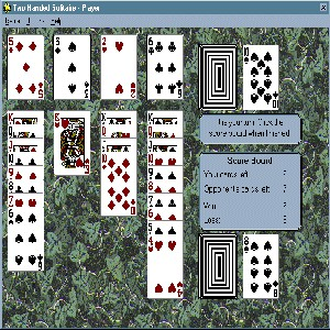 Two Handed Solitaire 2.0 screenshot