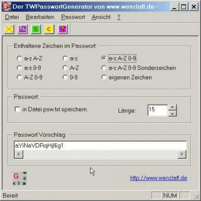 TWPassGen 1.2 screenshot