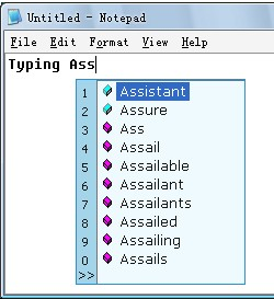 Typing Assistant 8.1 screenshot