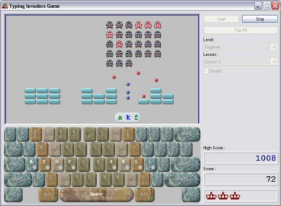 Typing Invaders - Free Typing Game 6.3 screenshot