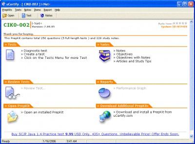 uCertify - I-Net+ Practice Test for Exam IK0-002 - 7.00.05 screenshot