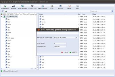 UFS Explorer Standard Recovery (Linux) 5.25 screenshot