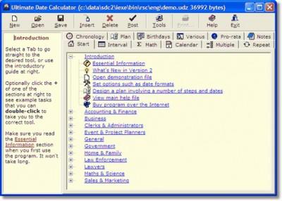 Ultimate Date Calculator 2.9.0.0 screenshot