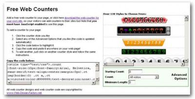 Ultimate Web Counter 1.03 screenshot